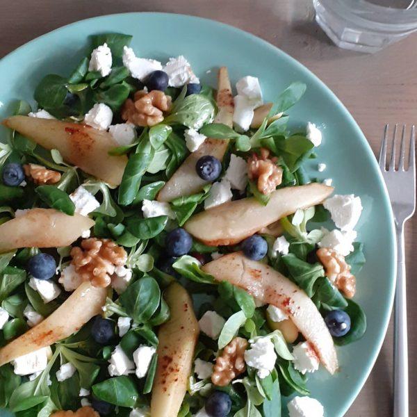 salade gekarameliseerde peer2 (3)